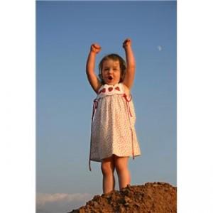 Child on rock