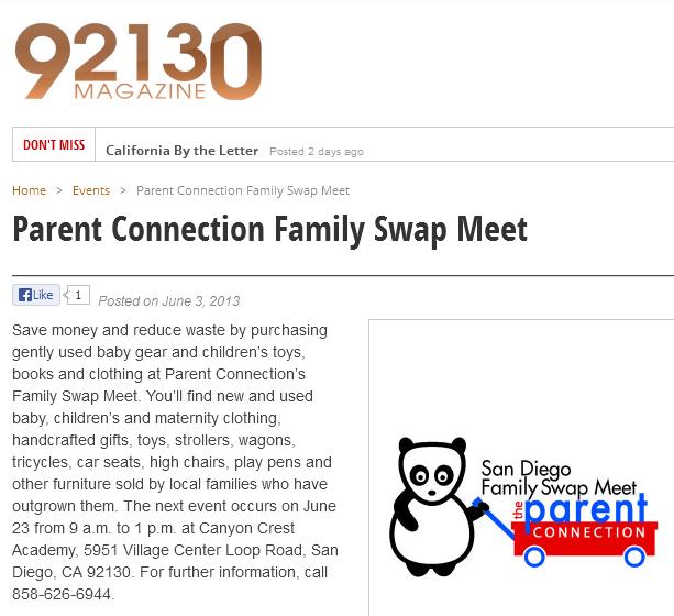 PC Family Swap Meet in 92130 Magazine